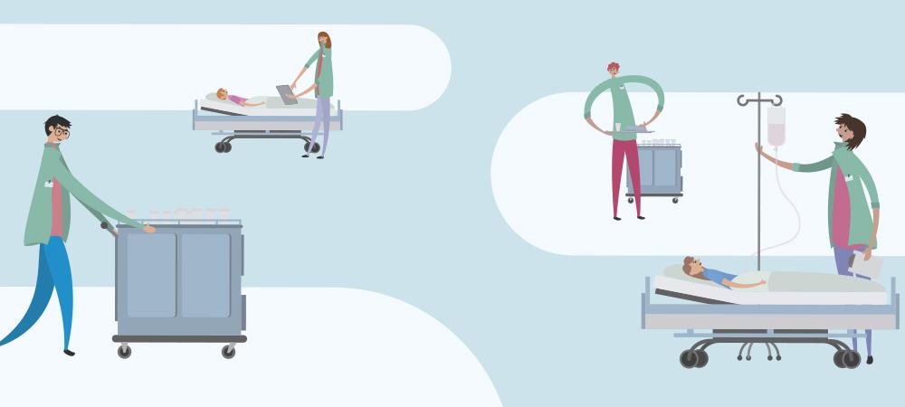 Illustration Krankenhauspersonal