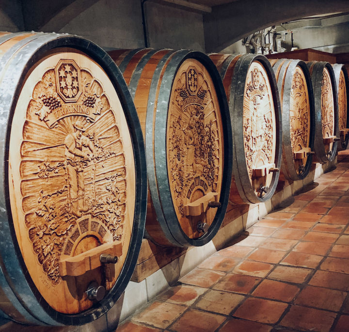 wine barrels denbies