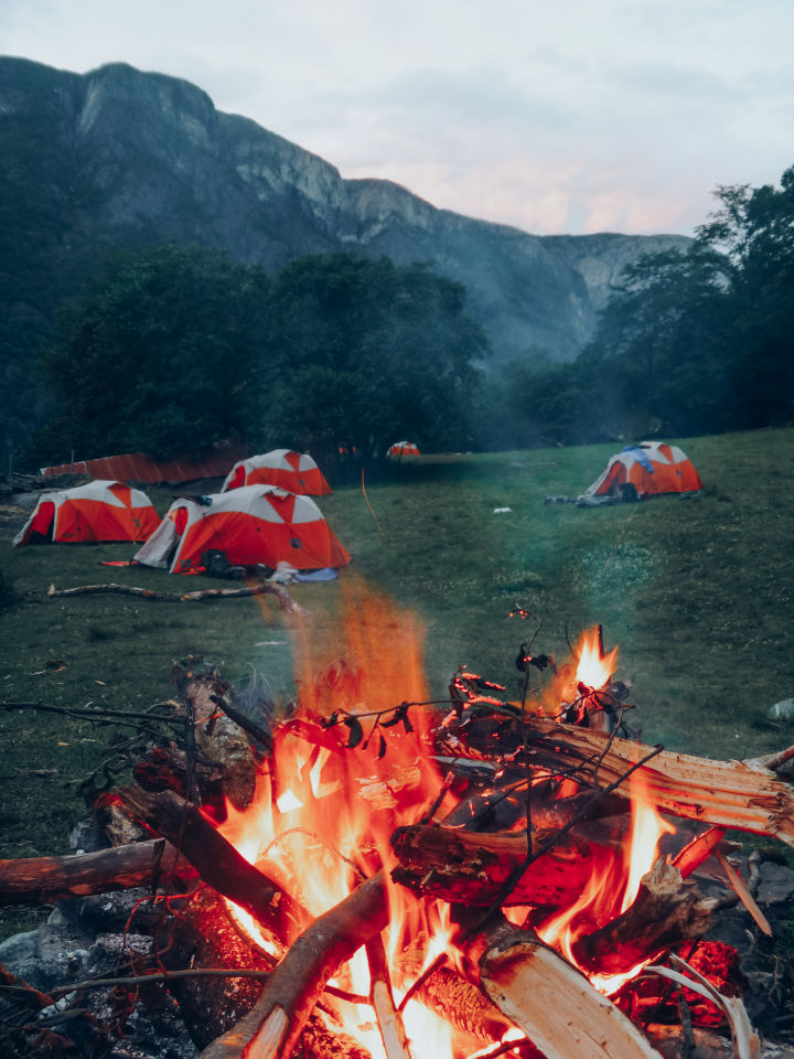 Camping in the valley