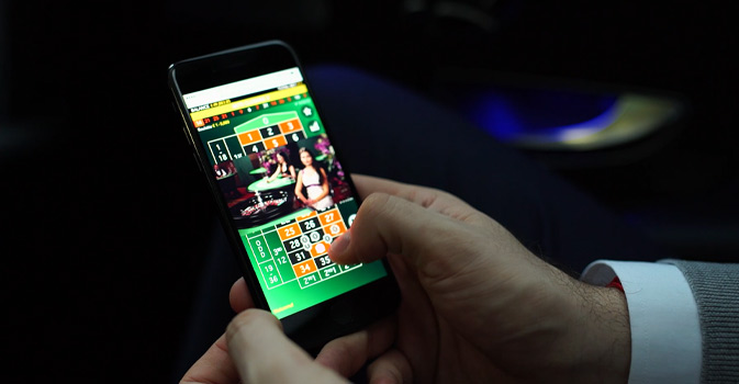 Live Casino Online on an Android mobile device