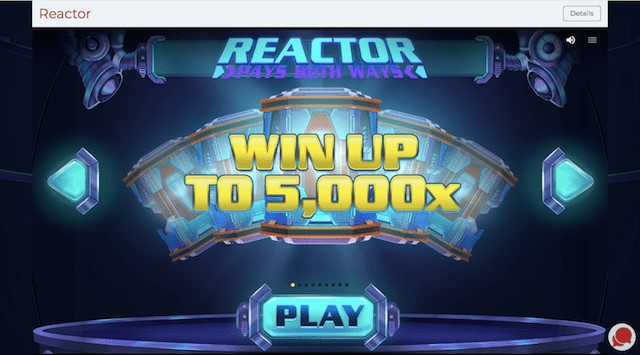 Win up to 5000 x betsize playing Reactor Slot