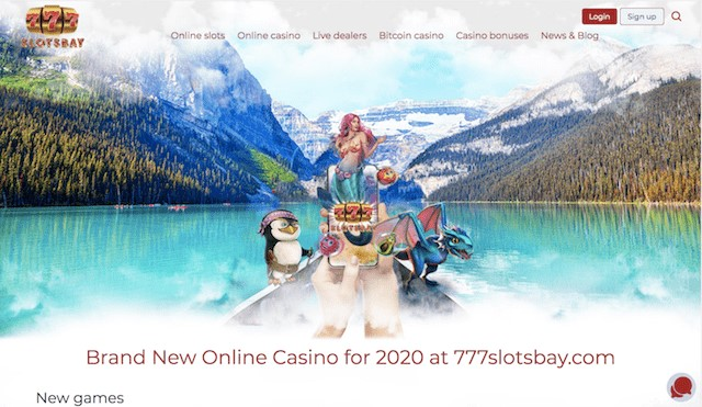 Casino Lobby featuring different types of online casino games