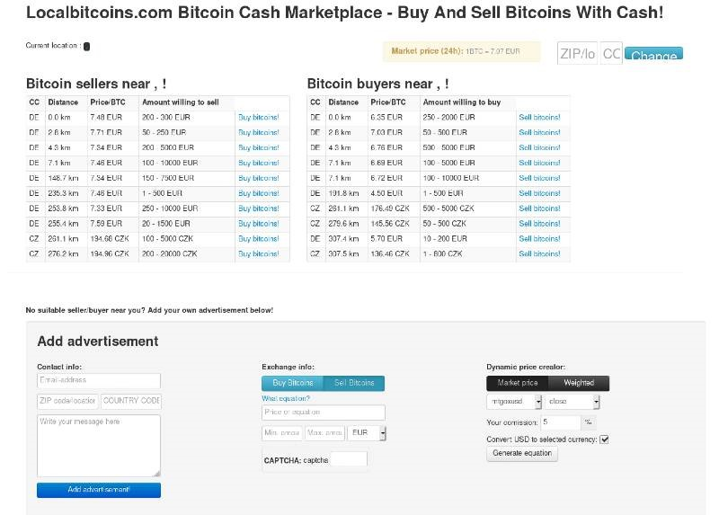 LocalBitcoins Archive Page From July 15, 2012, As Of Internet Archive