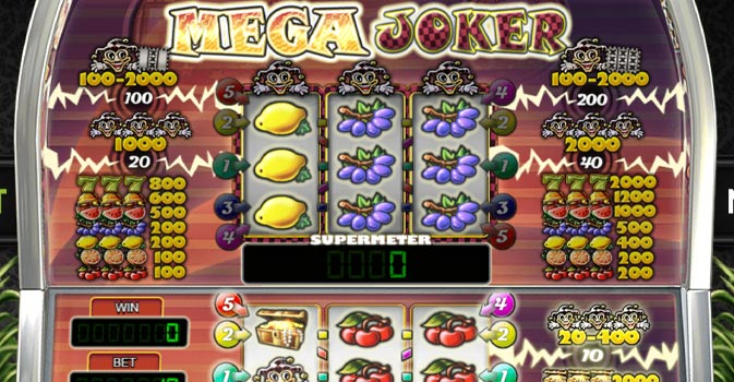Mega Joker Real Money Slot by NetEnt