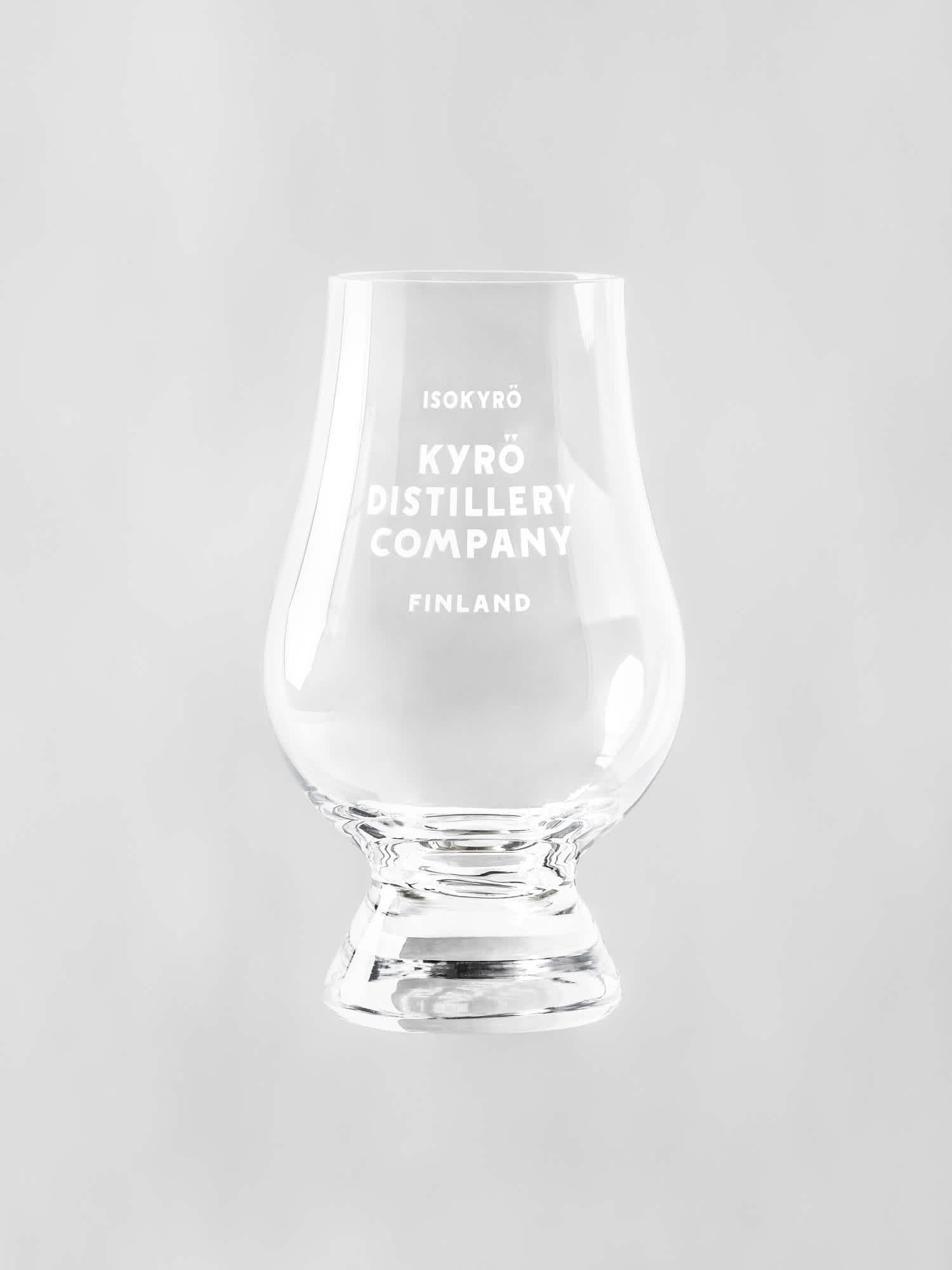 Product photo: a Kyrö-branded Glencairn tasting glass.