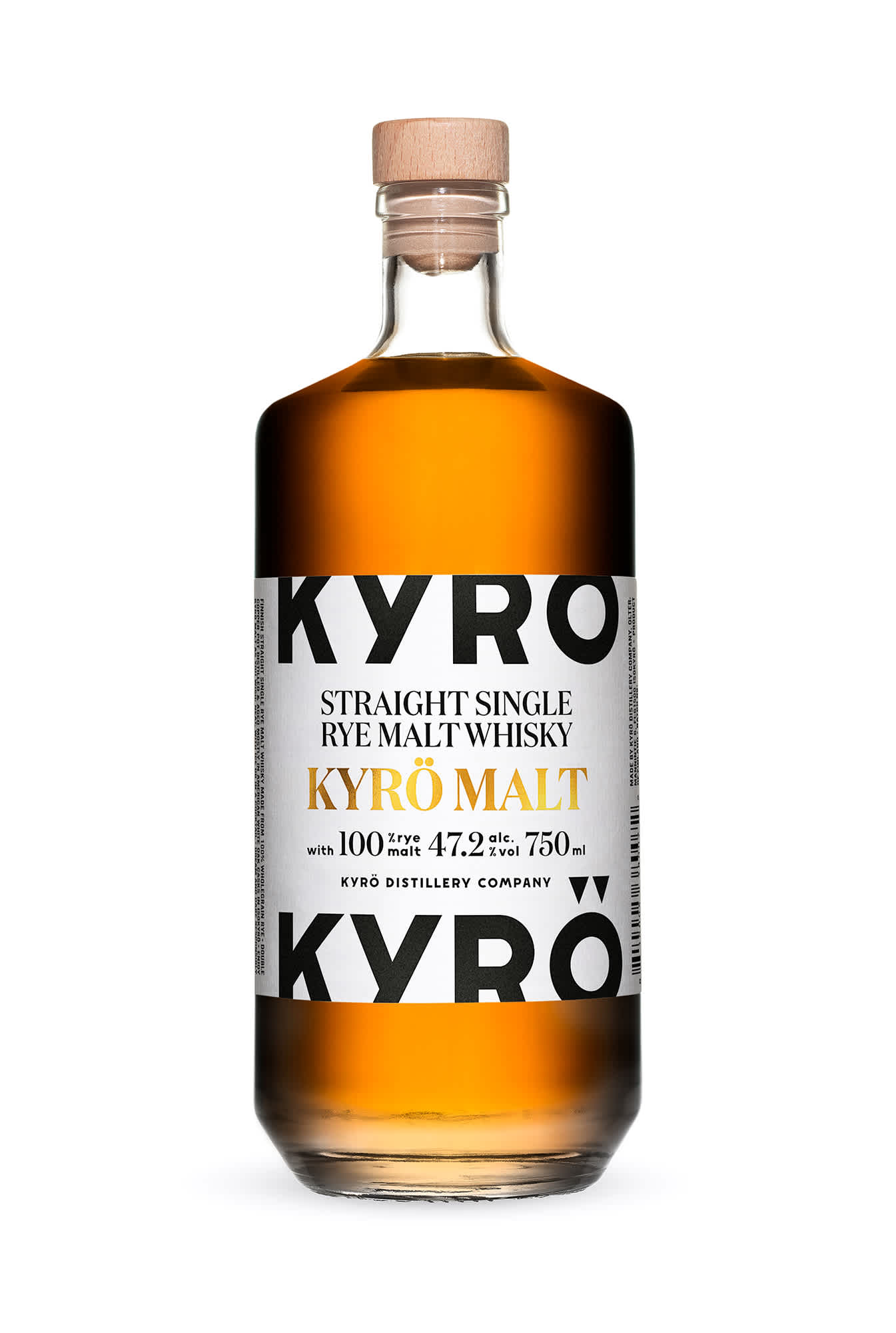 750 ml Bottle of Finnish rye whisky, Kyrö Malt.