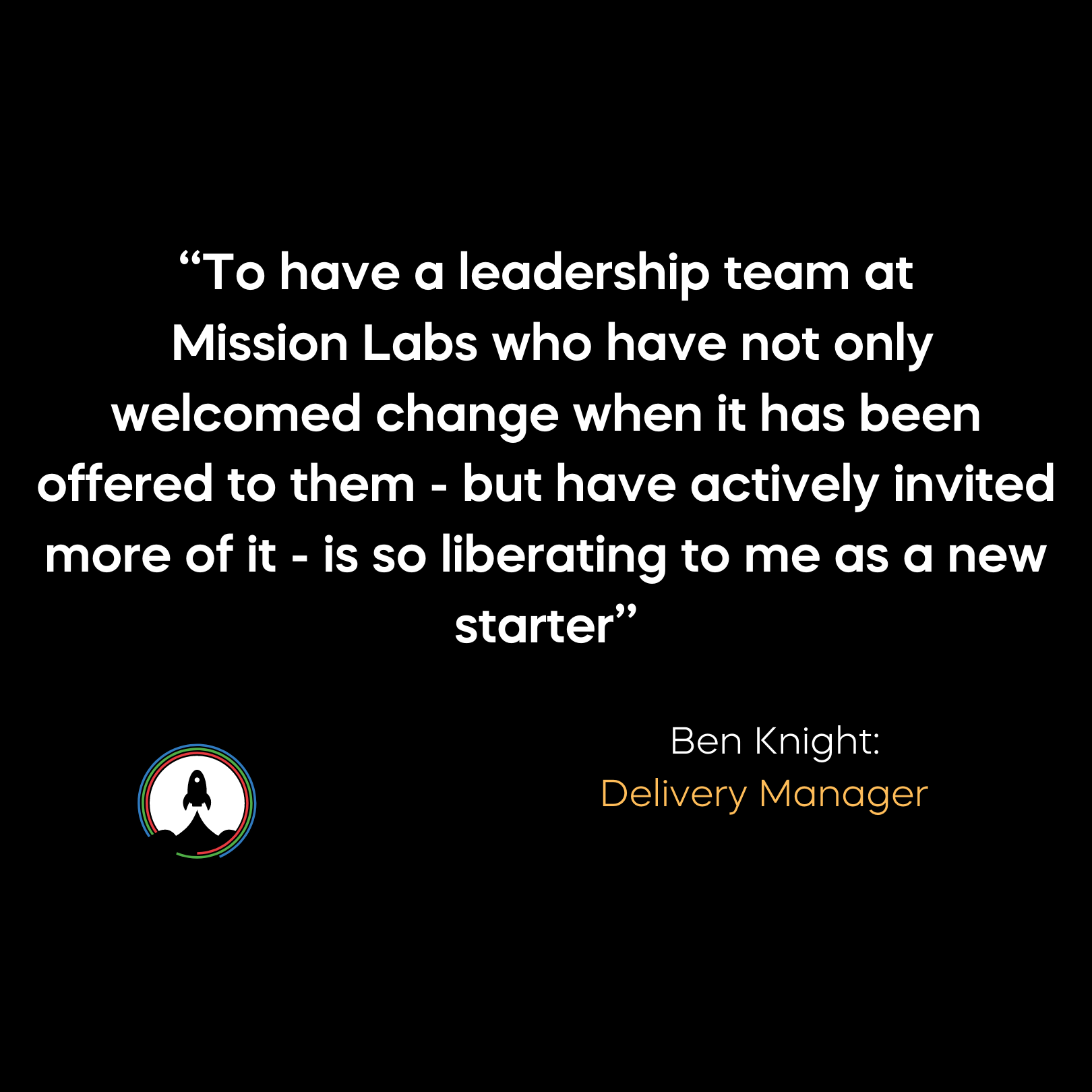 Ben Knight Quote on Leadership