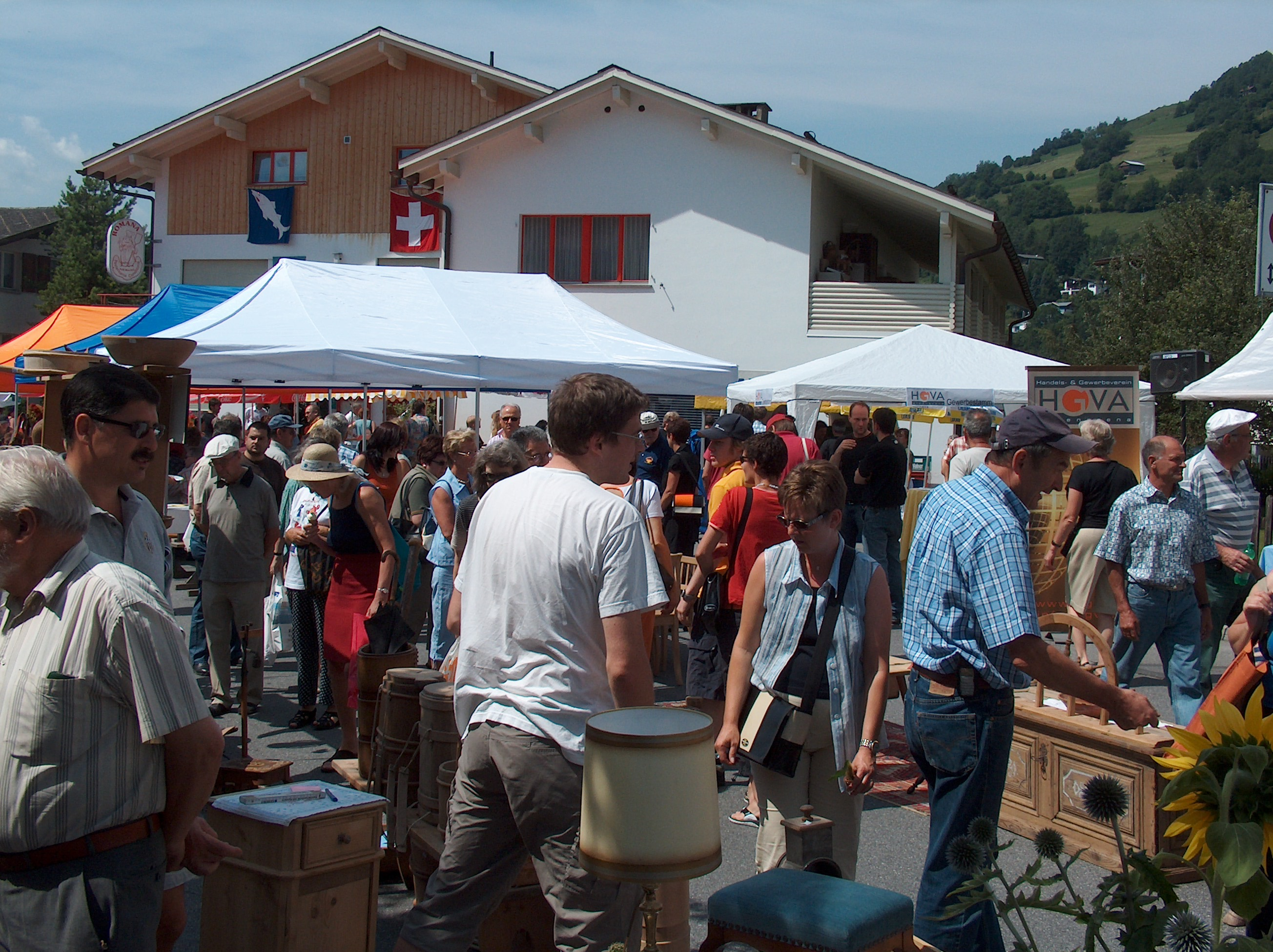Traditional market in Laax