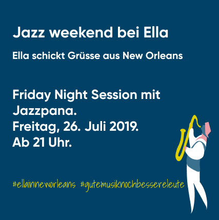 Friday Night Session with Jazzpana - Ella says hi from New Orleans