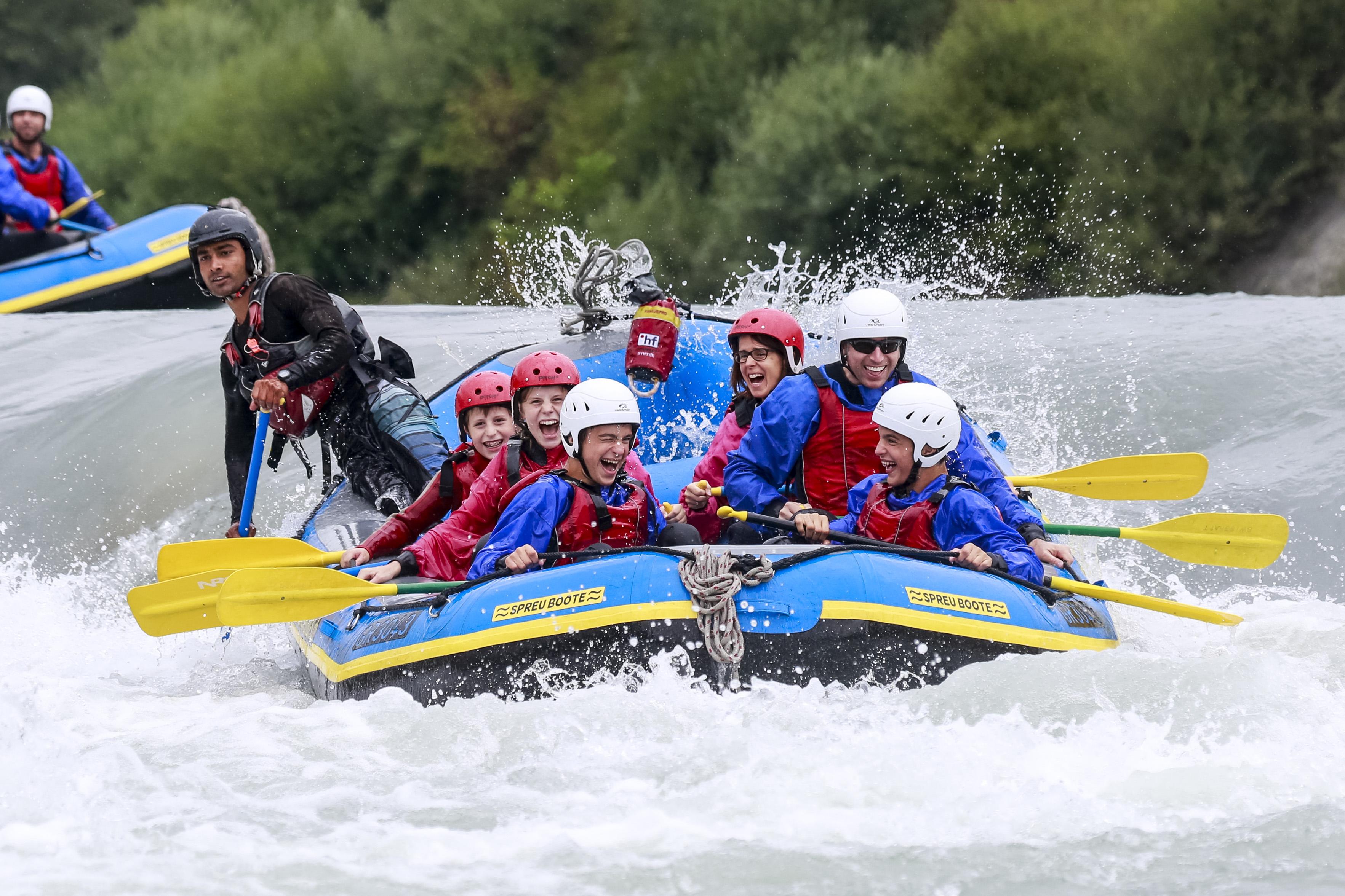 Rafting Vorderrhein Familytrip