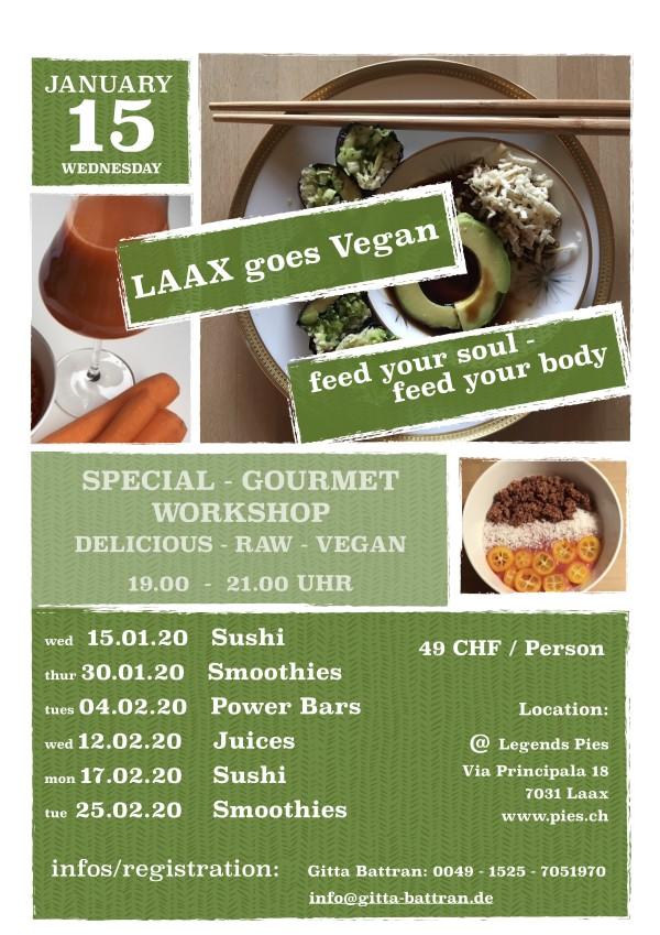 """Workshop: Laax goes Vegan """"Smoothies Night"""""""