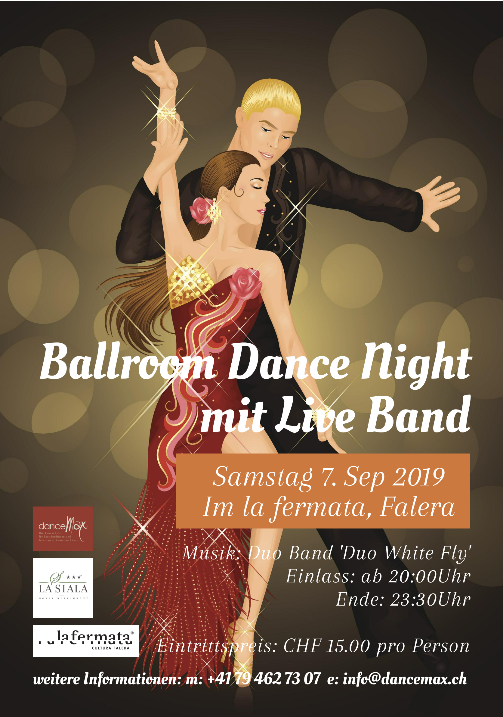 Ballroom Dance Night Live Music Party