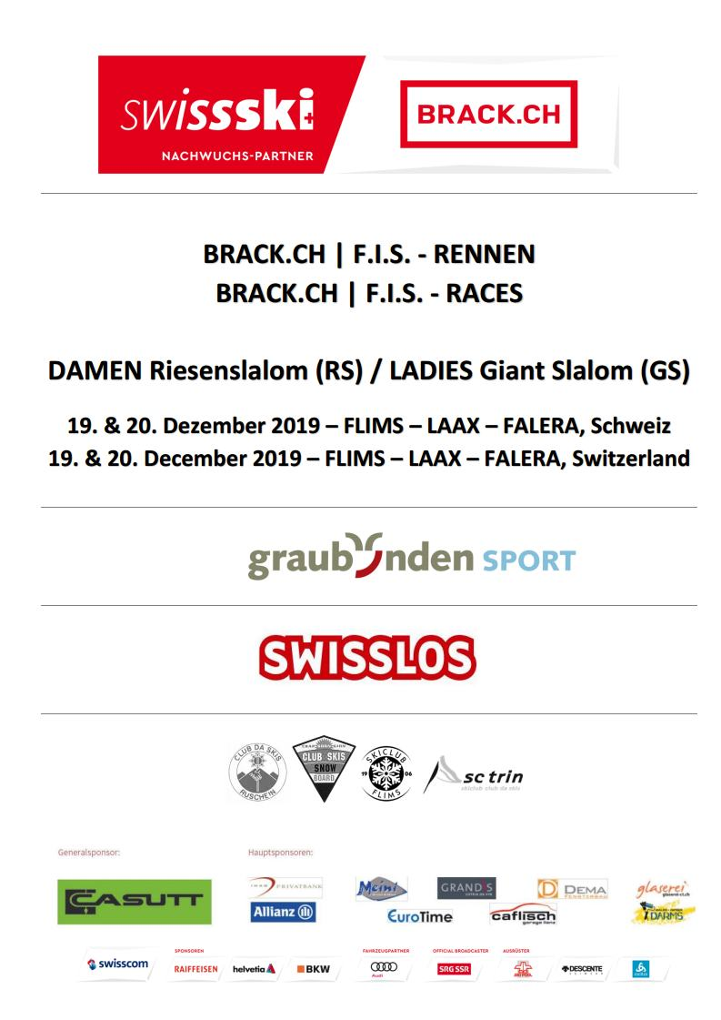 F.I.S. Races Ladies Giant Slalom