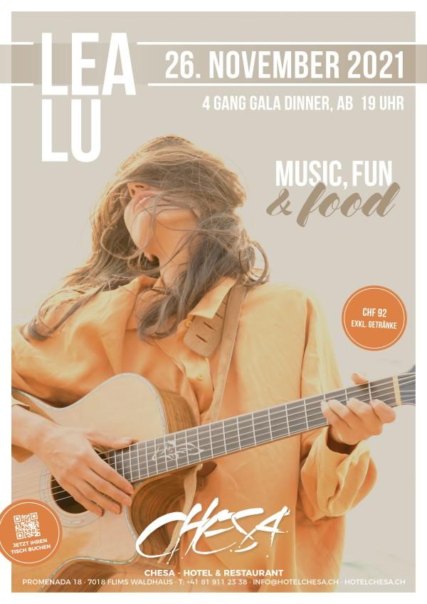 """Lea Lu """"MUSIC, FUN & FOOD"""""""