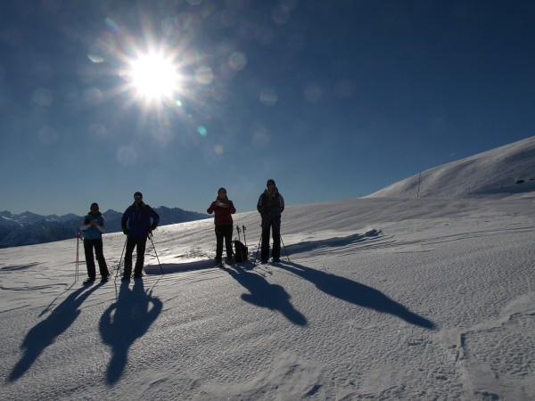 Guided snowshoe hike: The most beautiful places