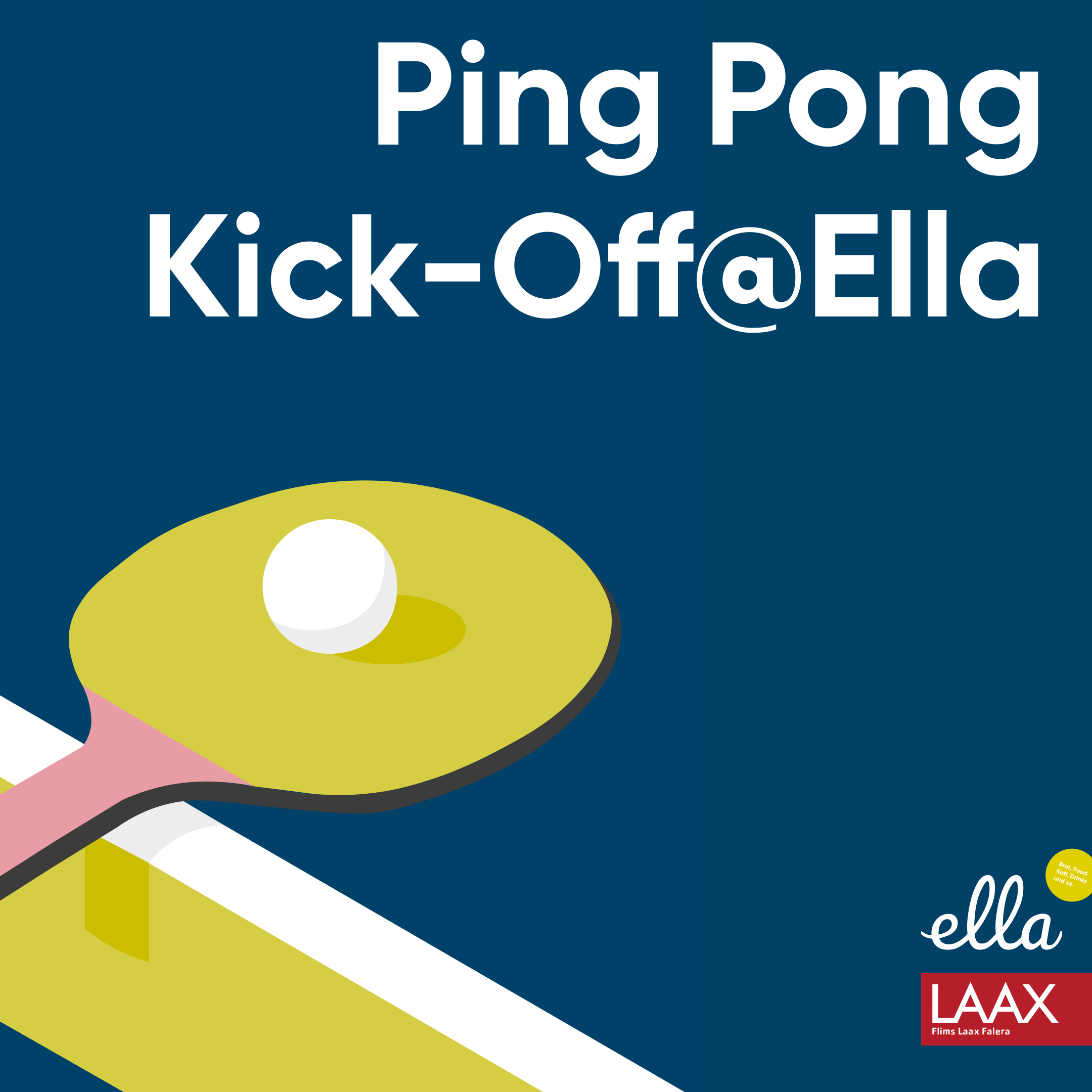 Ping Pong Kick-Off at Ella