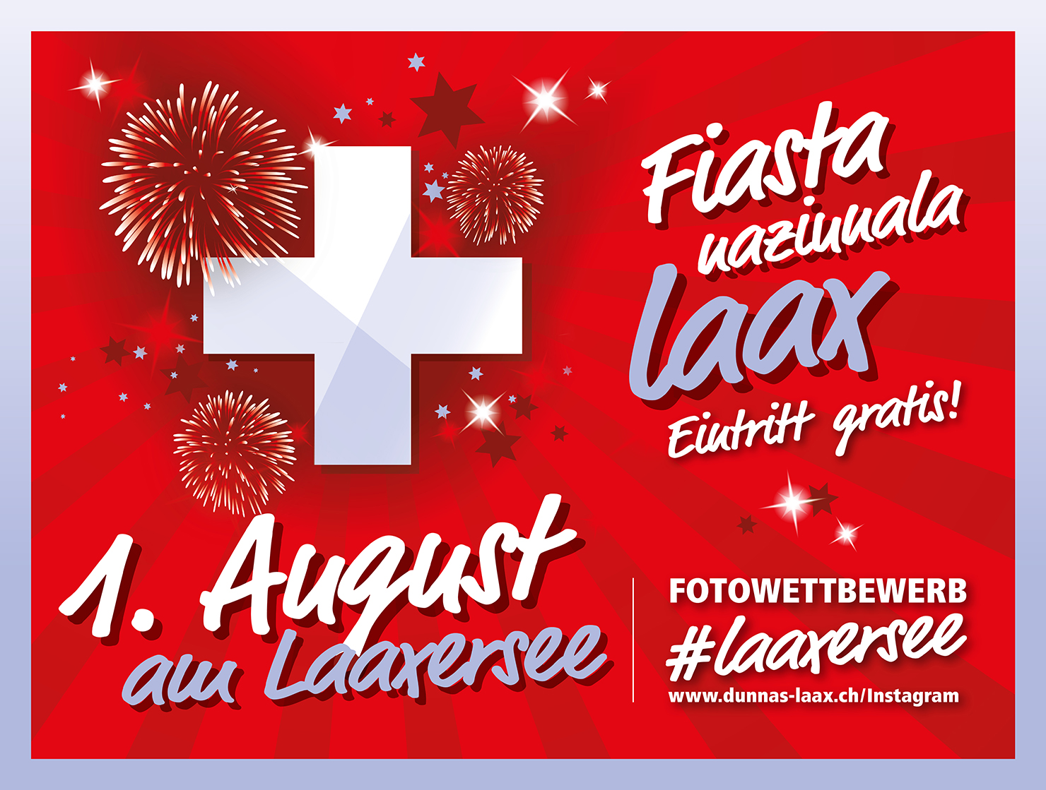 1st August celebration at Lake Laax