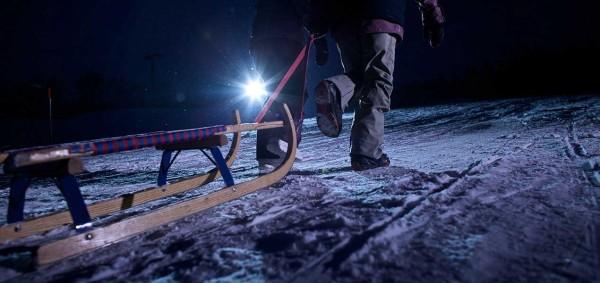 Night sledging Foppa