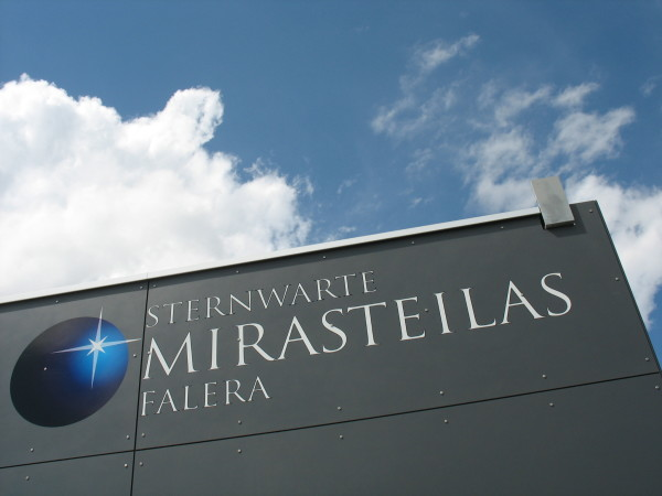 "Guided tour at observatory ""Mirasteilas"" Falera (in german language only! ...)"