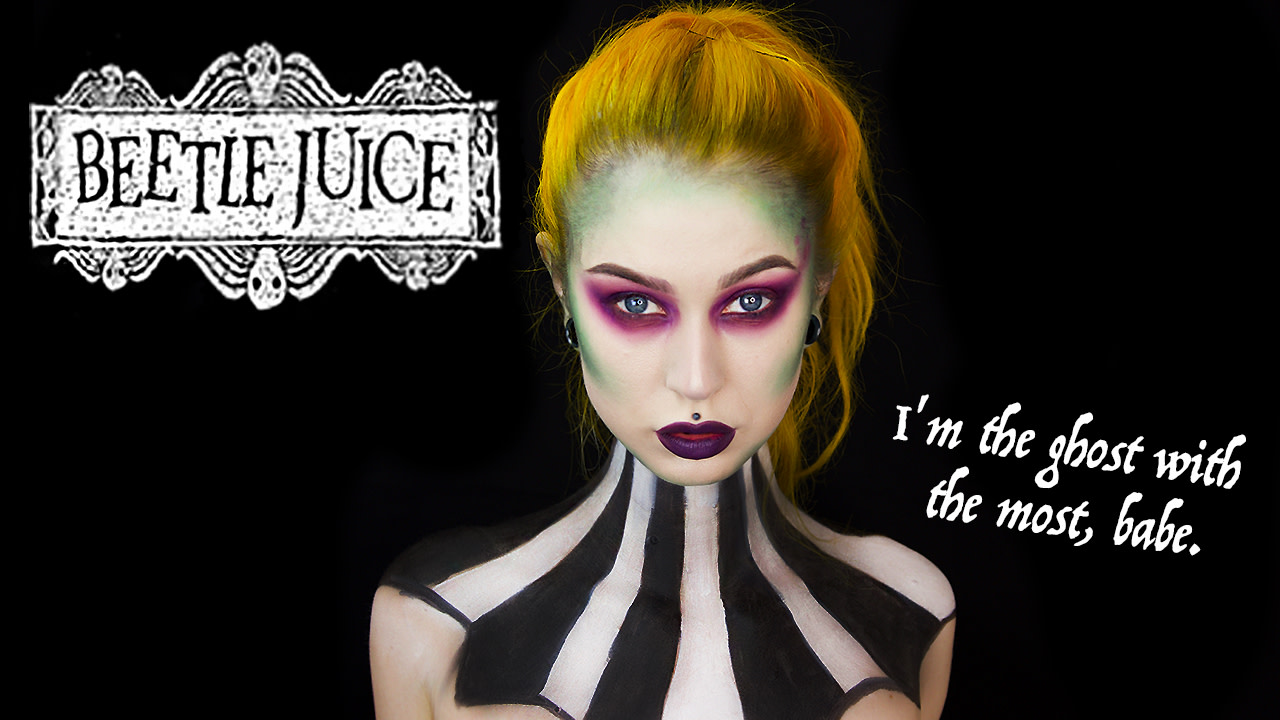 beetlejuice halloween tutorial 🎃 | evelina forsell