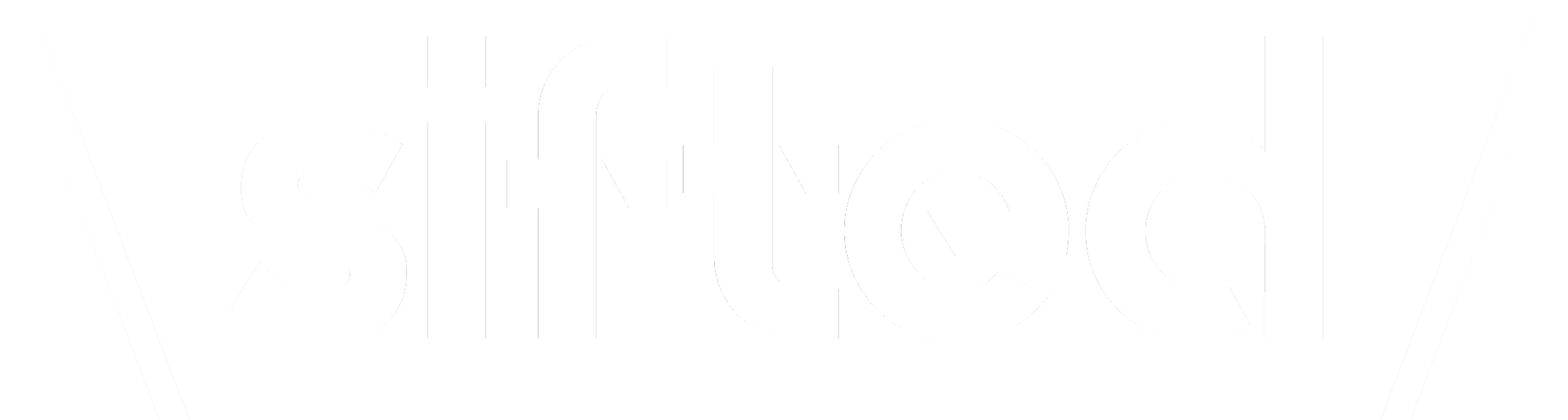 sifted logo white