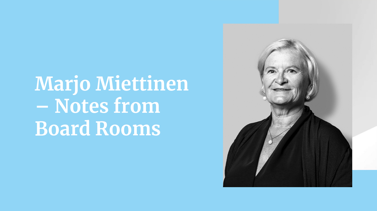 Marjo Miettinen — Notes from Board Rooms
