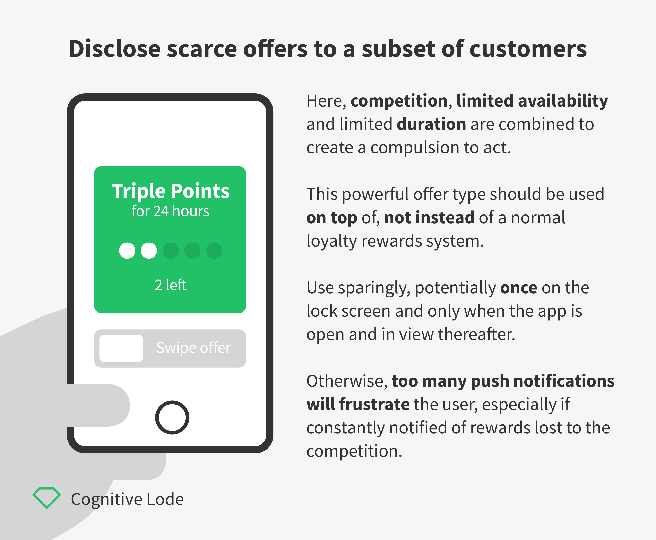 Cookie Clicker - Disclose scarce offers to a subset of customers