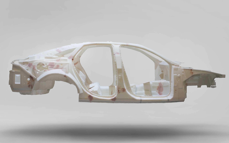 A 3d printed audi car frame