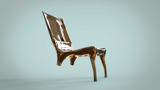 Bronze Chair rendering