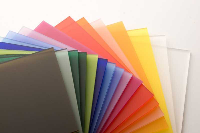 color and extruded acrylic sheets