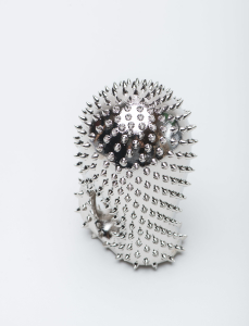 Metal plated spiked sculpture 2