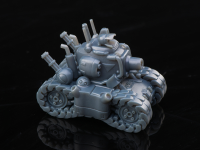 3D printed metal slug tank