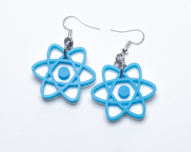 React hooks acrylic earrings