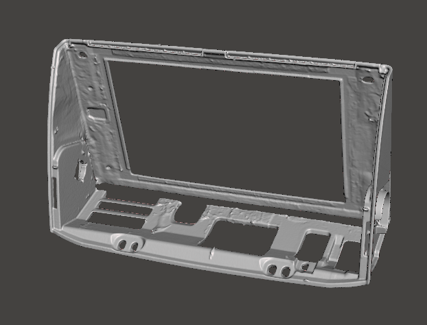 car media screen holder cad front view