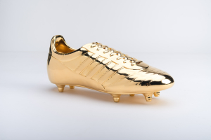 3d printed and metal plated football shoe