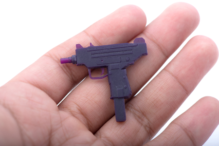 3D printed Uzi (wax)