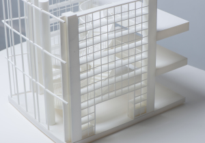 3D printed architectural model closeup