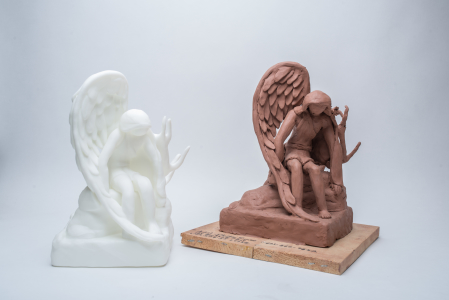 3D Scanned angel sculpture