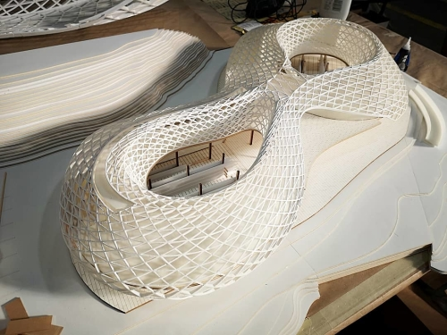 Boat House Architecture Model. Designer: Ziming Ye & Gloria