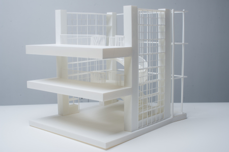 3D printed architectural model midshot