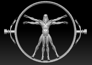 Westworld Inspired Vitruvian Man