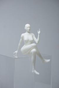 3D Modeled sketch of a naked woman full body