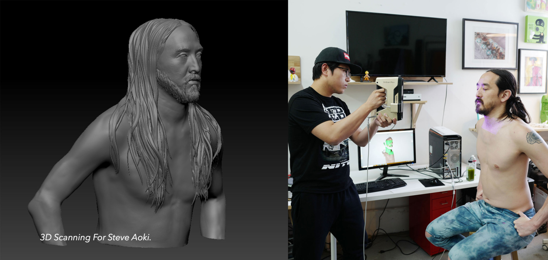 3D scanning steve aoki for his music video
