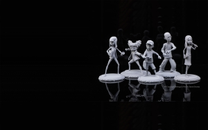 3d printed not so secrete society figurines bg