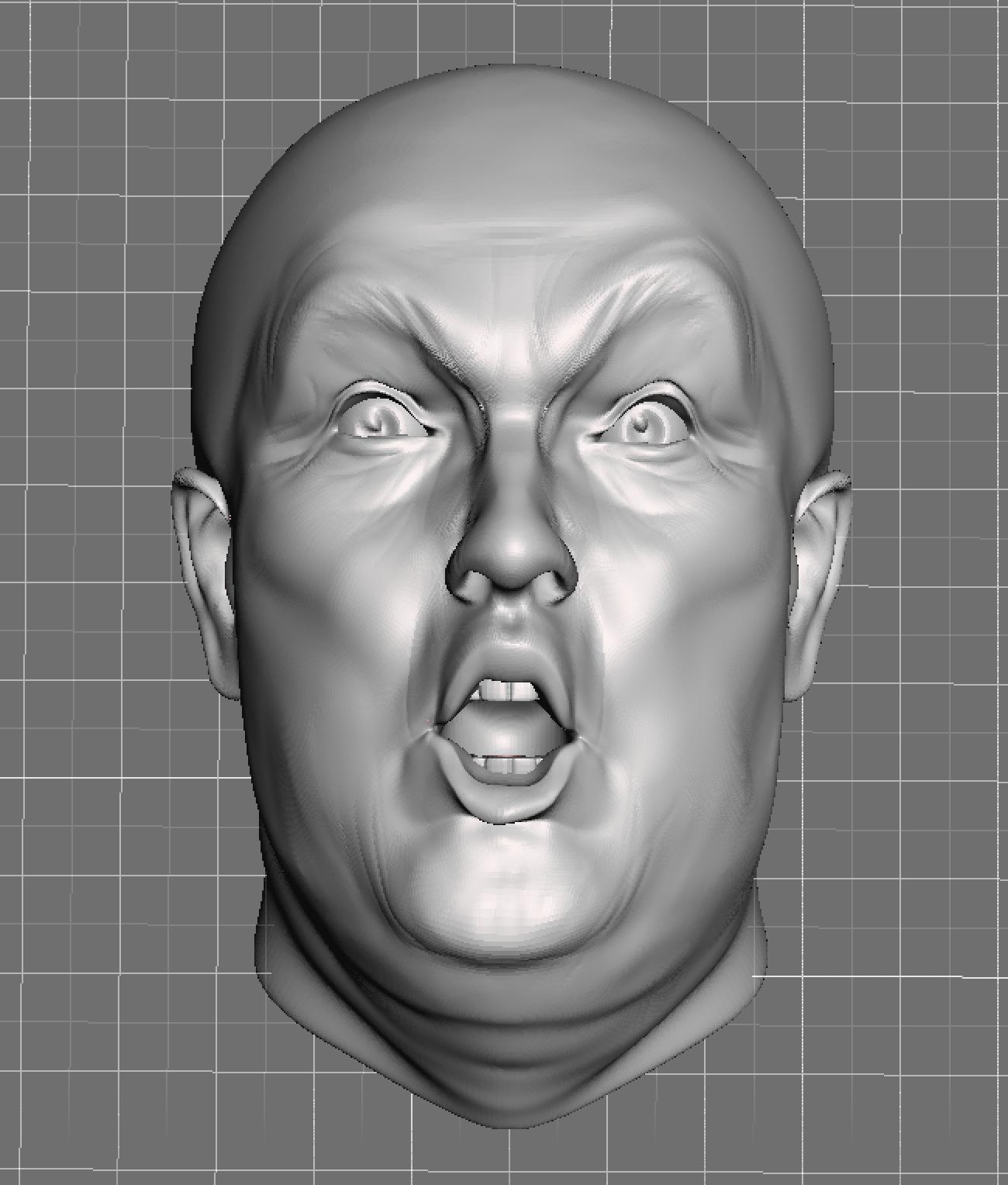 Trump's head 3D model