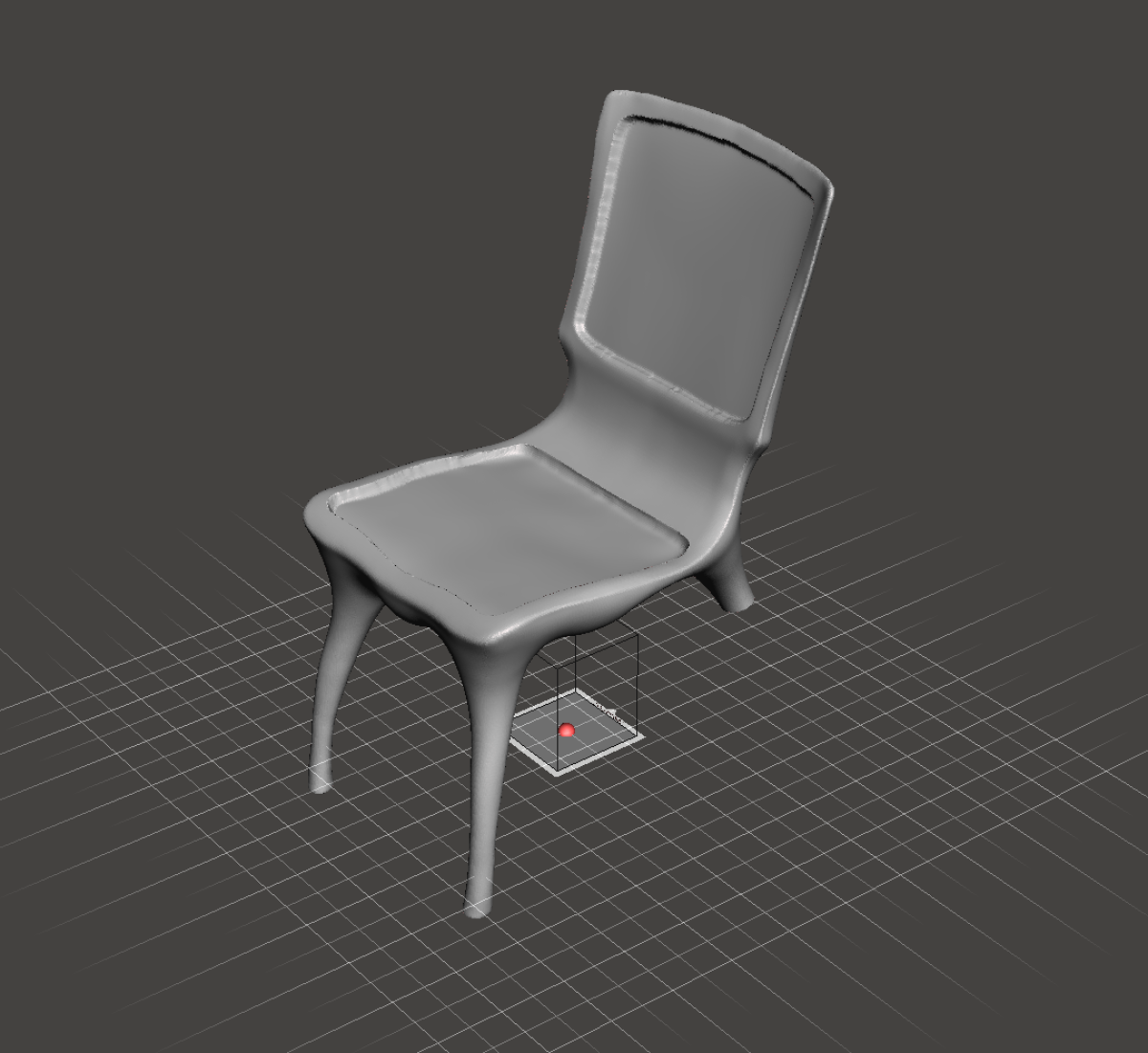 3D scan and 3d model of a designer furniture