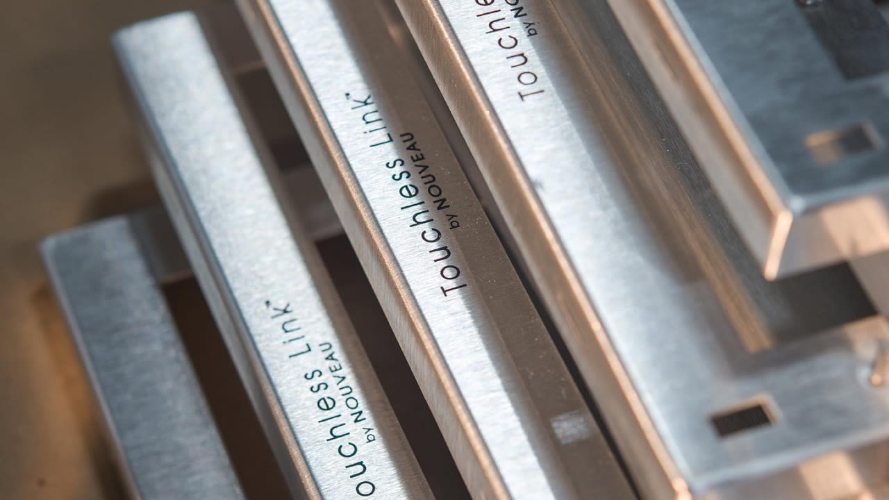 Laser engraving of metal frames