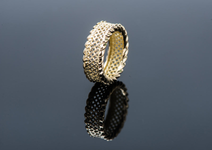Metal plated gold ring