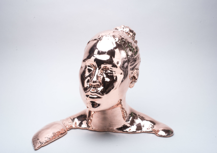 Copper plated bust