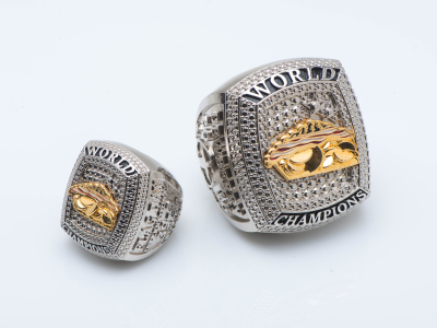 Metal plated championship rings